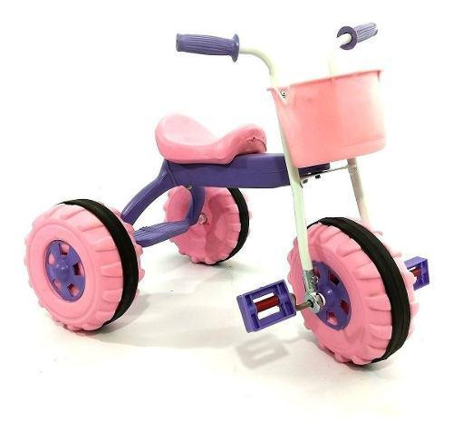 Triciclos infantiles nene nena canasto y apoya pie si