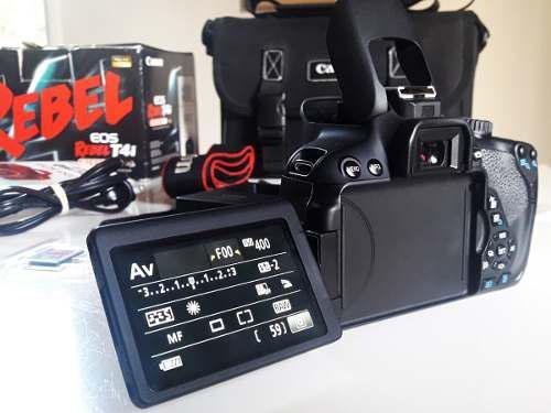 Canon t4i eos 650d+ lente 18-55 + bolso original + mem. 32gb