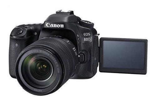 Cámara canon eos 80d lente 18-135mm kit + protector+parasol