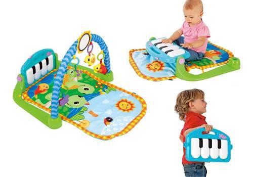 Gimnasio bebe musical piano juguete - manta didáctica 3 en