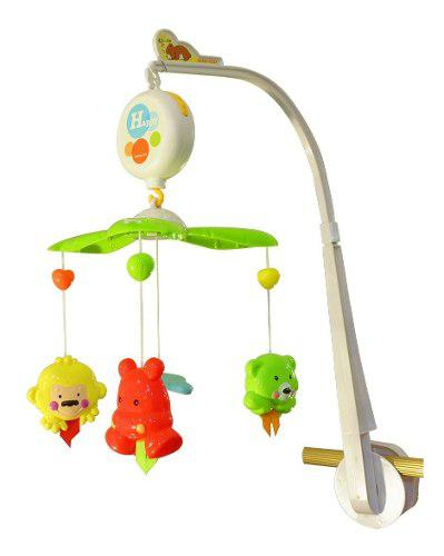 Móvil cunero giratorio musical didáctico para bebe