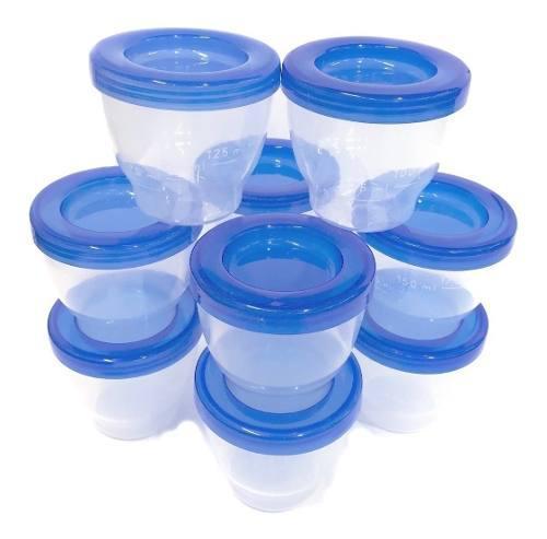 Set de vasos bebe leche materna almacenamiento de sacaleche