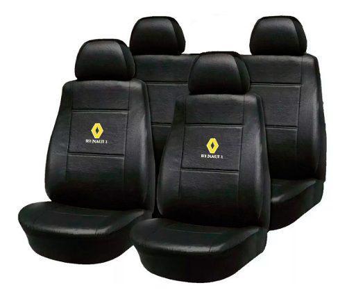 Fundas asiento cuero renault 9 11 12 19 clio megane con logo