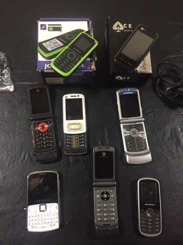 Lote de celulares repuestos