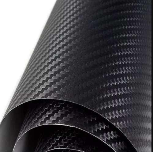 Vinilo fibra de carbono negro 150 cm x 50 cm