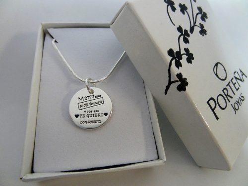 Cadena + dije acero blanco para regalo navidad x menor