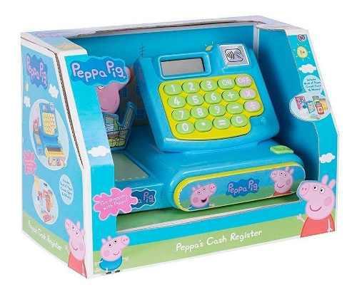 Caja registradora peppa pig con sonido y accesorios full