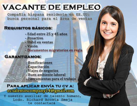 Compañía dirigida por hispanos busca ejecutivos en ventas