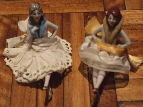 Muñecas porcelana alemanas antiguas 10 cm alto varias