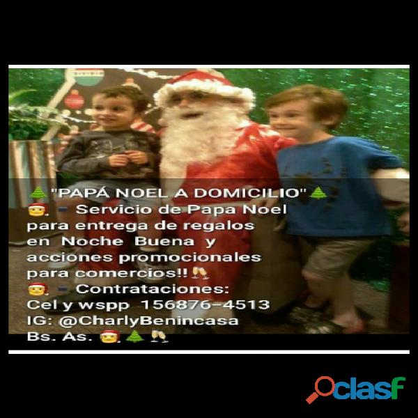 Nochebuena papa noel a domicilio bs as