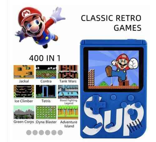 Consola videojuegos portátil game box 400 games salida tv