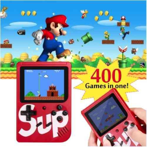 Consola videojuegos portátil retro 400 games salida tv
