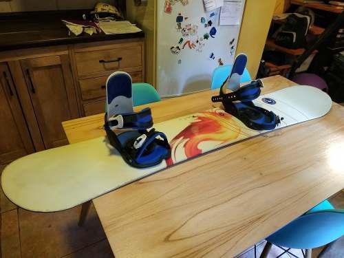 Equipamiento snowboard completo tabla airwalk drake italia