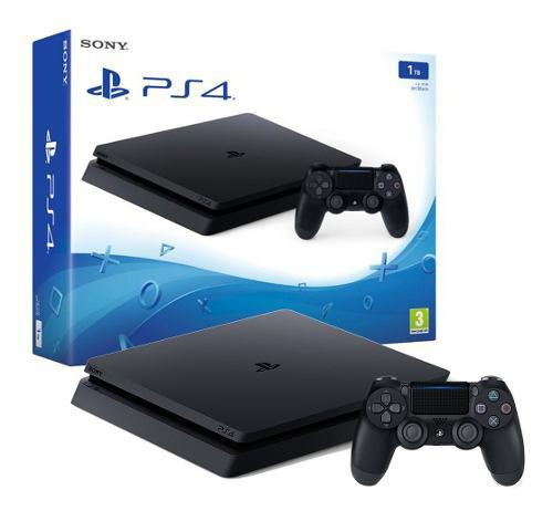 Play station ps4 slim 1tb + 2 joystick + 3 juegos increible!