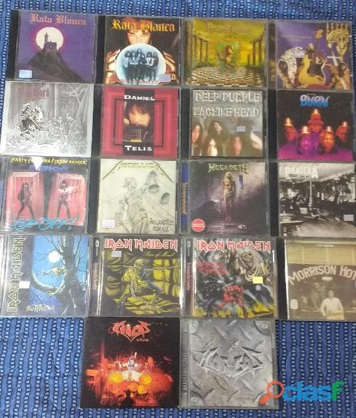 Lote 84 discos de metal y hard rock + porta cd de regalo