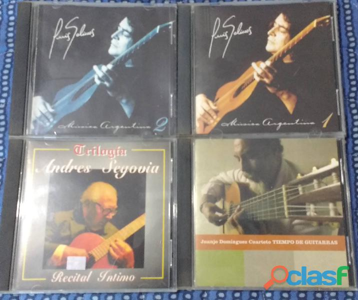 Lote 4 cds de grandes guitaristas (20% off)