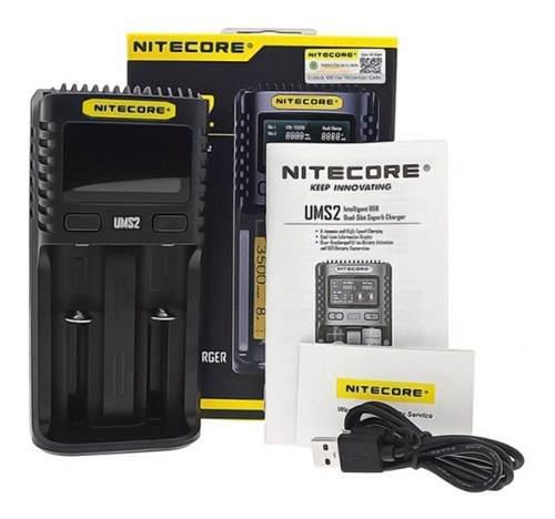 Cargador baterias nitecore ums2 power bank 18650 20700 21700