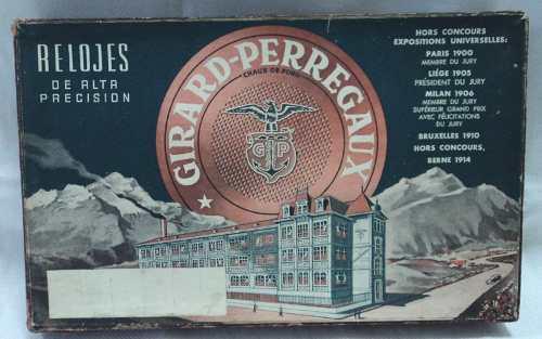 Antigua caja reloj relojero girard perregaux para repuestos