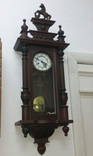 Antiguo reloj de pared gustav becker silesia año 1933 garan
