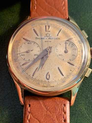 Reloj baume & mercier cronógrafo antiguo