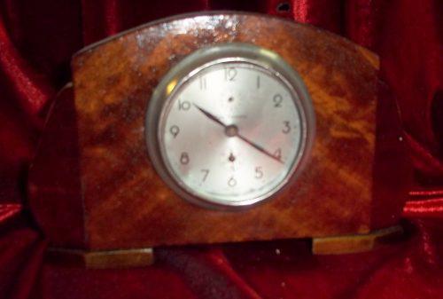 Reloj de mesa antiguo caja madera casa escasany italiano
