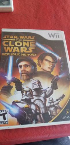 Star wars the clone wars - juego wii