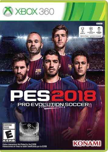 Pes 18 2018 xbox 360 juego cd nuevo original físico sellado