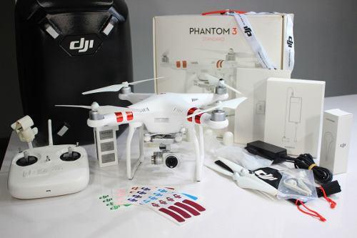 Drone dji phantom 3 standard 2.7 k con valija y accesorios