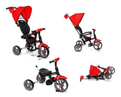 Triciclo infantil bebe plagable manija direccional canasto