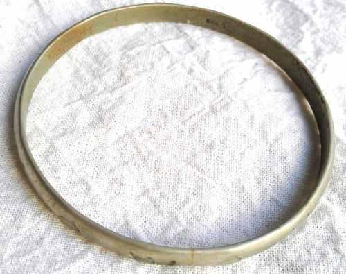 Antigua pulsera esclava plata 925 original perú 6.5cm