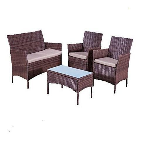 Muebles jardin terraza exterior mesa sillon rattan juego kit