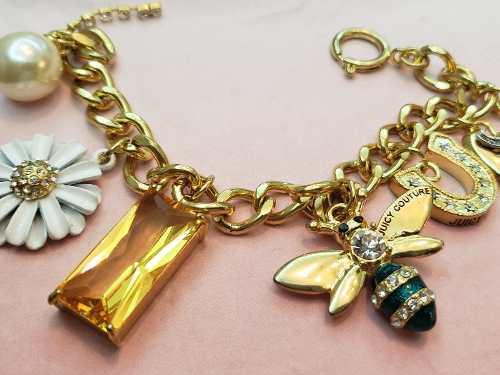 Pulsera dije dorada collar aro anillo stras fantasia colgant