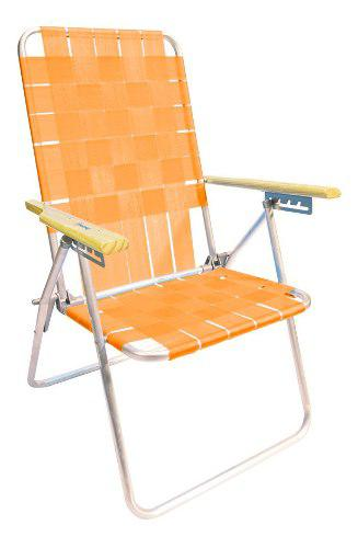 Reposera silla aluminio descansar 5 pos cintas plasticas cuo