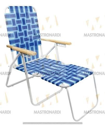 Reposera sillón con apoyapies plegable descansar 20004
