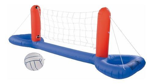 Set volley red pileta juego inflable bestway 244x64 cm 52133
