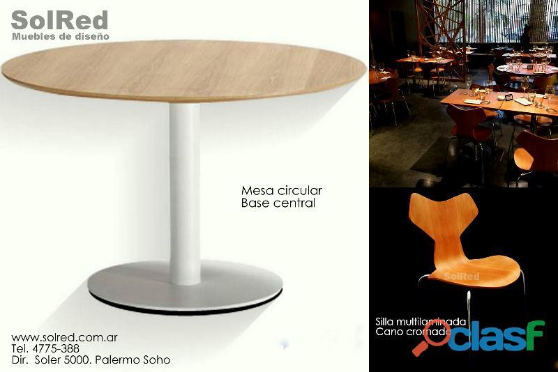 Mesa y silla para restaurant elegante