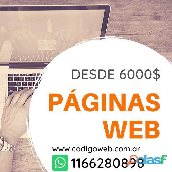 Página web con hosting diseño web