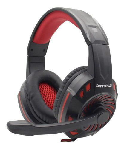 Auriculares headset amitosai gold 7.1 real ps4 mts-floss