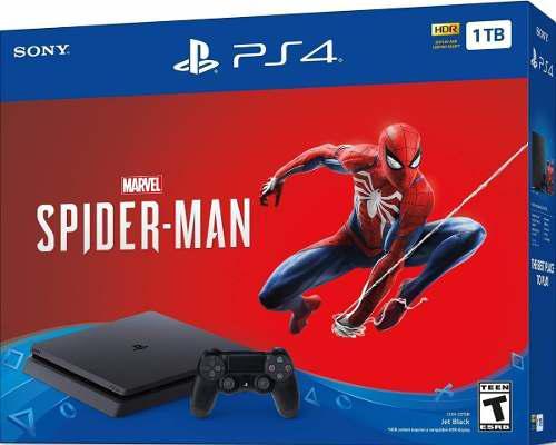 Play 4 ps4 spiderman edition 1tb consola + joystick + juego