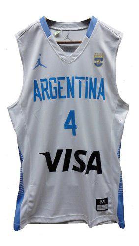 Camiseta basquet argentina scola 4 jordan original !