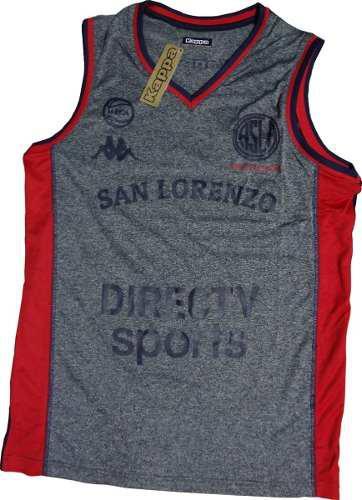 Camiseta musculosa de básquet san lorenzo oficial kappa