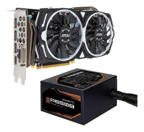 Combo placa video rx 570 8gb msi oc + fuente 650w 80p mexx 2