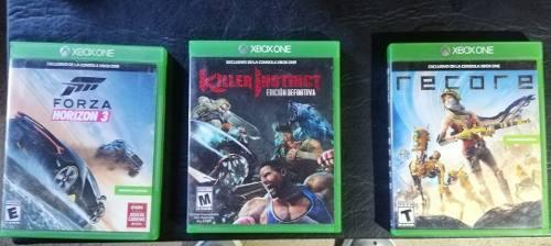 Juegos xbox one forzá horizon 3 + killer instinct + recore
