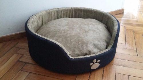 Cama perro moisés cucha mascotas jean mediano 50cm