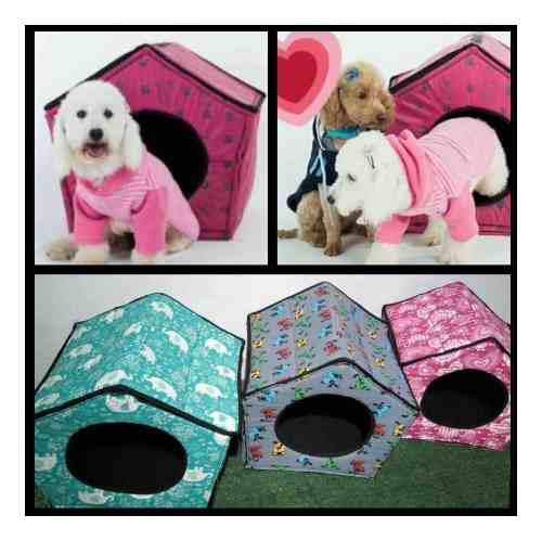 Casita desmontable lavable para mascotas perros / gatos t6