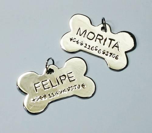 Chapa perros mascota medalla identificacion