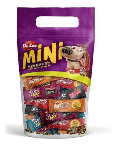 Combo x 3 snacks surtidos para perros dr. zoo mini 20 unid