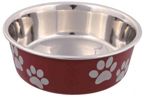 Comedero bebedero perros acero y plastico 0,75 l trixie