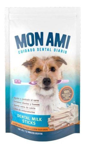 Golosinas perros snack mon ami dental clean milk stick