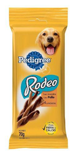 Golosinas perros snack rodeo pedigree adult sabor pollo 70gr